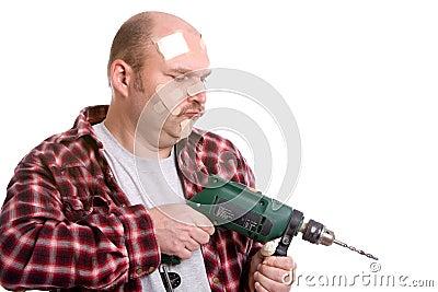 Clumsy handyman