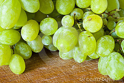 Cluster of grape on the table