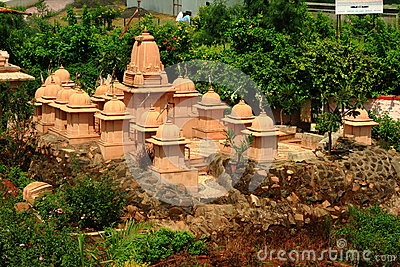 Cluster of small Jain temples