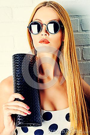 Free Clutch Bag Royalty Free Stock Image - 44785586