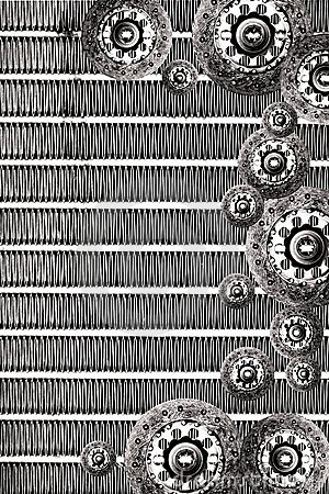Clutch plate & radiator background