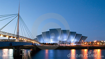 Clydeside panorama at dusk Editorial Image