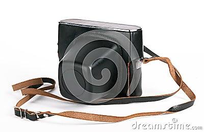 Câmera da foto do vintage caso que