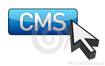 CMS blue cursor and  button
