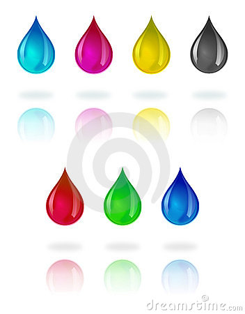 Free CMYK And RGB Droplets Stock Image - 17483561