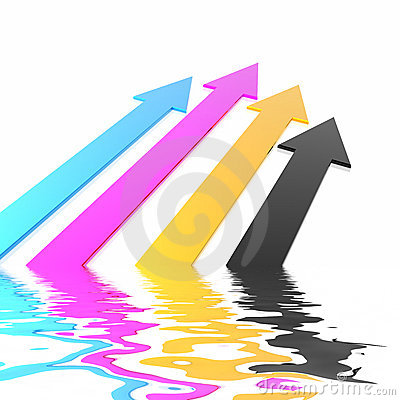 Free CMYK Arrows Stock Images - 5272534