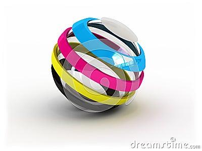 CMYK ball sign