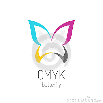 Free CMYK Butterfly Logo Template Royalty Free Stock Photo - 79790985