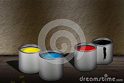 CMYK cans