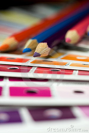 Free Cmyk Color Bars On Printed Stock Image - 5229731