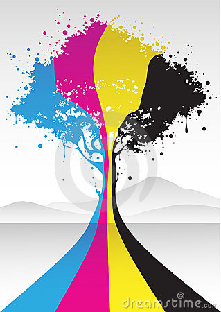 Free Cmyk Color Tree Royalty Free Stock Photography - 9600597