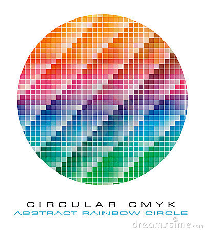 CMYK colours palette for Abstract Background