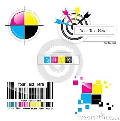Free CMYK Design Set Royalty Free Stock Image - 25331376