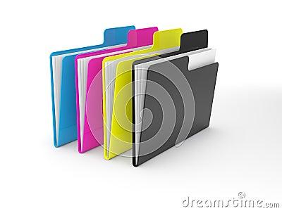 CMYK folders