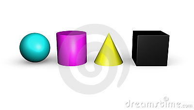 CMYK Geometric shapes
