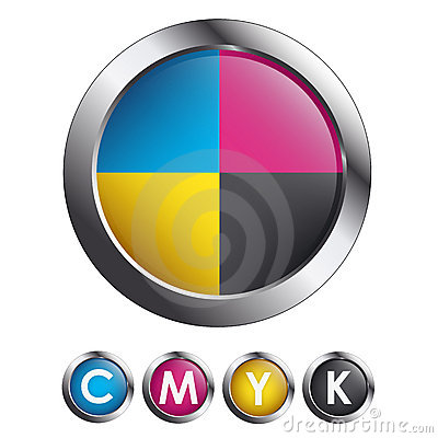 CMYK Glossy Round Buttons