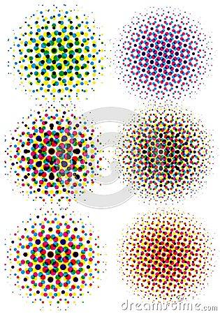 Cmyk halftone dots