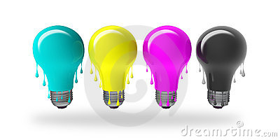 CMYK Ideas dripping