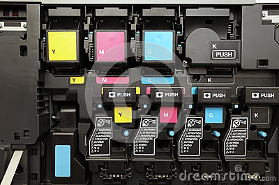 CMYK ink cartridges for laser copier machine