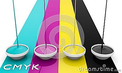 CMYK liquid inks