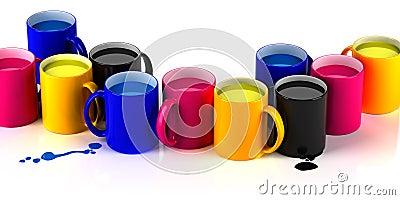 CMYK mugs lineup