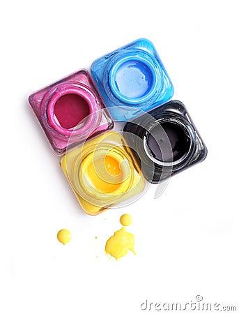CMYK paint buckets