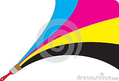 Cmyk paint logo