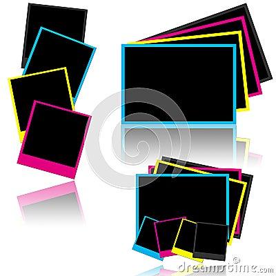 CMYK photo frames