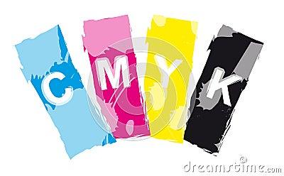CMYK print color inks