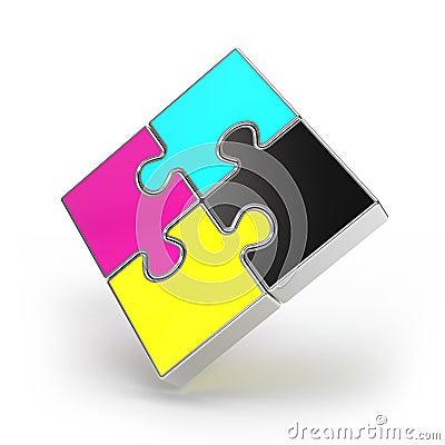 Free CMYK Puzzle Stock Photos - 14631523