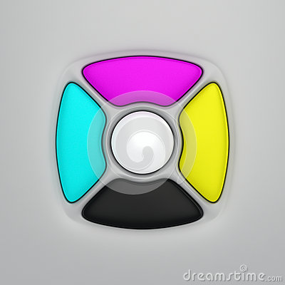 CMYK remote control buttons