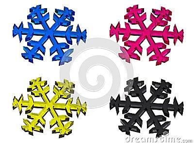 CMYK snowflake