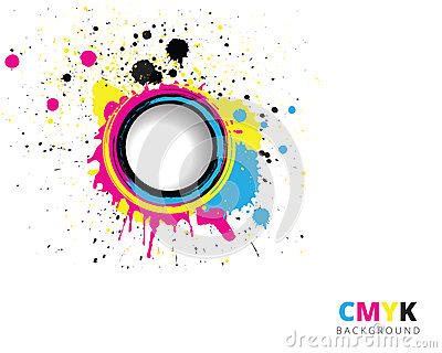 CMYK splash background