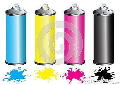 CMYK Spray can