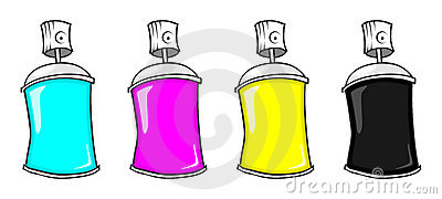 CMYK spray cans
