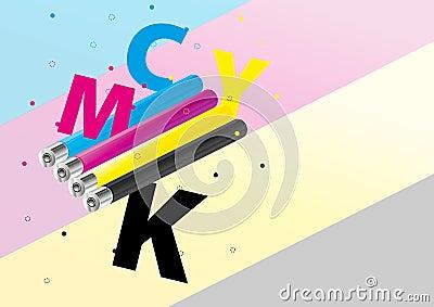 CMYK toned cylinders