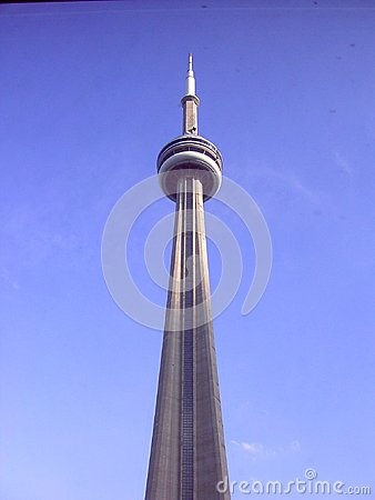 CN Tower Canadian National Tower Toronto Canada Editorial Photo