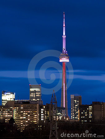 CN Tower at Twilight. Editorial Image