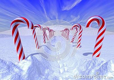 Cnady canes path