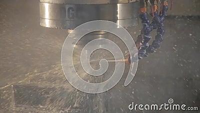 CNC μηχανή άλεσης απόθεμα βίντεο