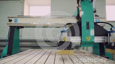 CNC machine in work. stock video