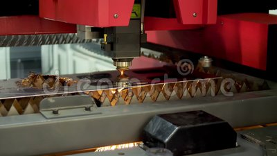 CNC-teknik för laserskärning Teknik och industri stock video