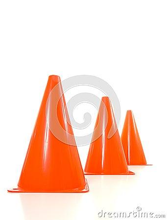Cônes oranges de circulation