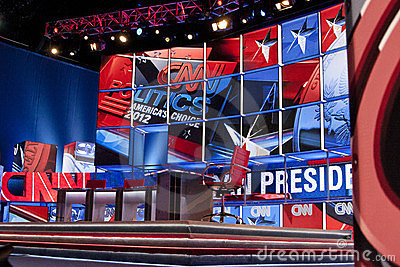 CNN Cable Television Presidential Debate Stage Editorial Photography