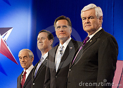 CNN Republican Presidential Debate 2012 Editorial Stock Photo