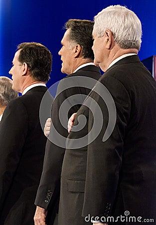 CNN Republican Presidential Debate 2012 Editorial Image