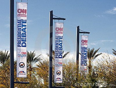 CNN Republican Presidential Debate 2012 Editorial Photo