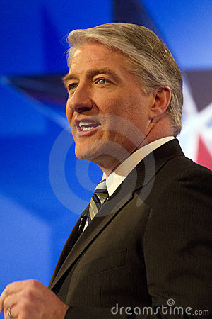 CNN s John King at GOP Presidential Debate 2012 Editorial Stock Image