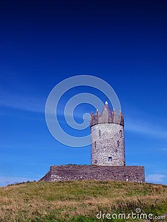 CO. Clare Ирландия Doolin замока Doonagore