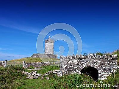 Co. Clare Ierland van Doolin van het kasteel van Doonagore